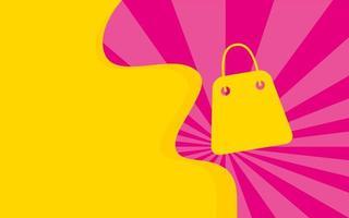 affiche de couleurs de bannière de vente de sac à provisions