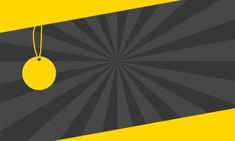 étiquette suspendue affiche de couleurs de bannière de vente