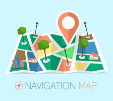 Carte de navigation vecteur