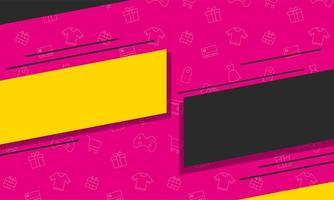 icône d'affiche de couleurs de bannière de vente
