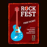 Affiche de concert Rock Fest vecteur
