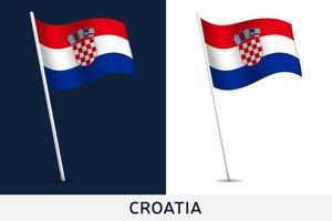 drapeau de vecteur de la Croatie