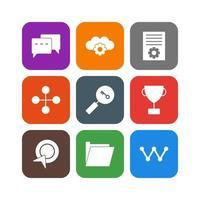 ensemble d'icônes d'optimisation des moteurs de recherche