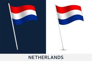 drapeau de vecteur des Pays-Bas