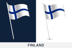 drapeau de vecteur de Finlande