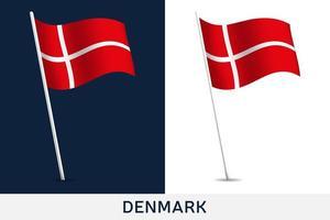 drapeau de vecteur de Danemark