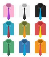 illustration de conception de vecteur de cravate de cou isolé sur fond blanc