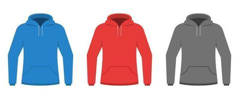Sweat à capuche set vector illustration de conception isolé sur fond blanc