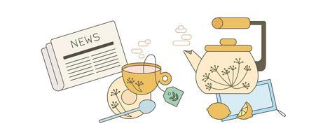 Vecteur de thé au citron