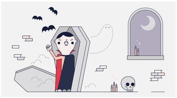 Vecteur de Dracula endormi
