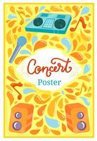 Concert Poster 2 Vecteurs vecteur