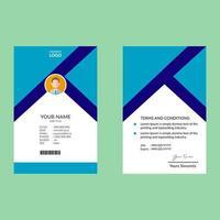 modèle de conception de carte d'identité élégante bleue