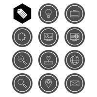 ensemble d'icônes d'optimisation des moteurs de recherche à usage personnel et commercial.