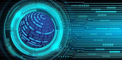 fond d'hologramme bleu futur et technologie avec carte du monde