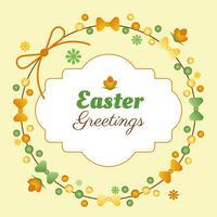 Fond de vecteur Pâques printemps vacances