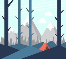 Camping dans la nature vecteur