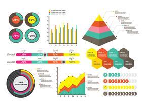 Visualisation de données pour la présentation vecteur