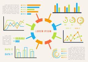 Vecteurs de visualisation de données emblématiques vecteur
