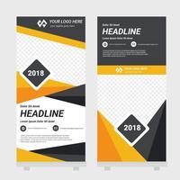 Standee Design Template vecteur