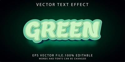 effet de texte vert vecteur