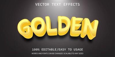 effet de texte doré vecteur