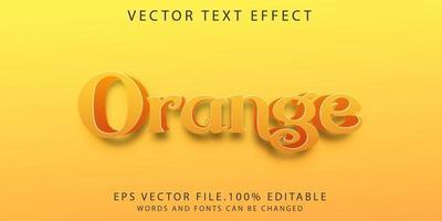 effet de texte orange vecteur