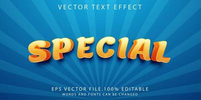 effet de texte spécial vecteur