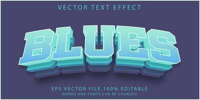 effet de texte blues vecteur