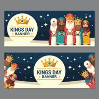 Illustration de bannières de jour des rois