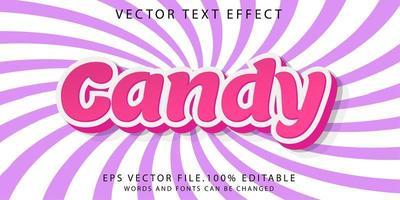bonbons effet texte vecteur