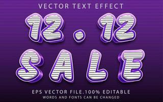 effet de texte 12.12 vente vecteur