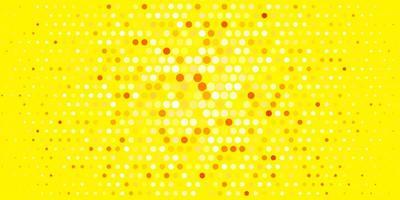 texture de vecteur orange clair avec des disques.