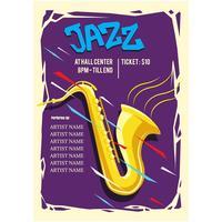 Vecteur affiche concert jazz