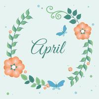 Carte de conception de printemps Design plat vecteur