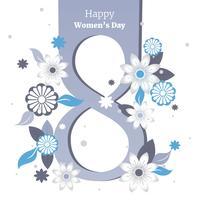 Carte postale à l'illustration vectorielle de la journée des femmes vecteur
