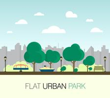 Parc urbain plat vecteur