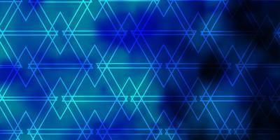 toile de fond de vecteur bleu clair avec des lignes, des triangles.