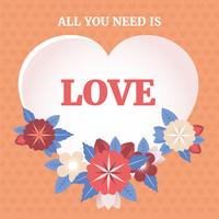 Illustration vectorielle de fond de la Saint-Valentin