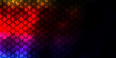 toile de fond de vecteur multicolore sombre avec des rectangles.