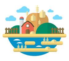 Illustration de l'agriculture à plat