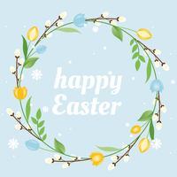Fond de Pâques Joyeux vecteur