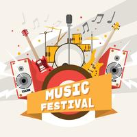 Affiche de festival de musique joyeuse vecteur