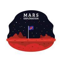 mars exploration vecteur