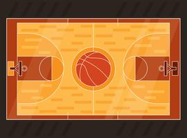 Vecteur de terrain de basket