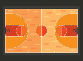 Terrain de basket style plat vecteur