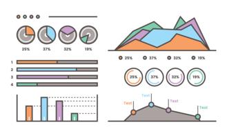 Visualisation des données graphiques vecteur