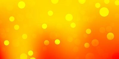 toile de fond de vecteur orange clair avec des points