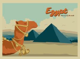 Vecteur de carte postale d'Egypte