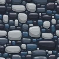 illustration de conception de vecteur de modèle sans couture de roche