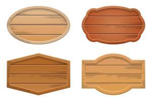 illustration de conception de vecteur de bannière en bois isolé sur fond blanc
